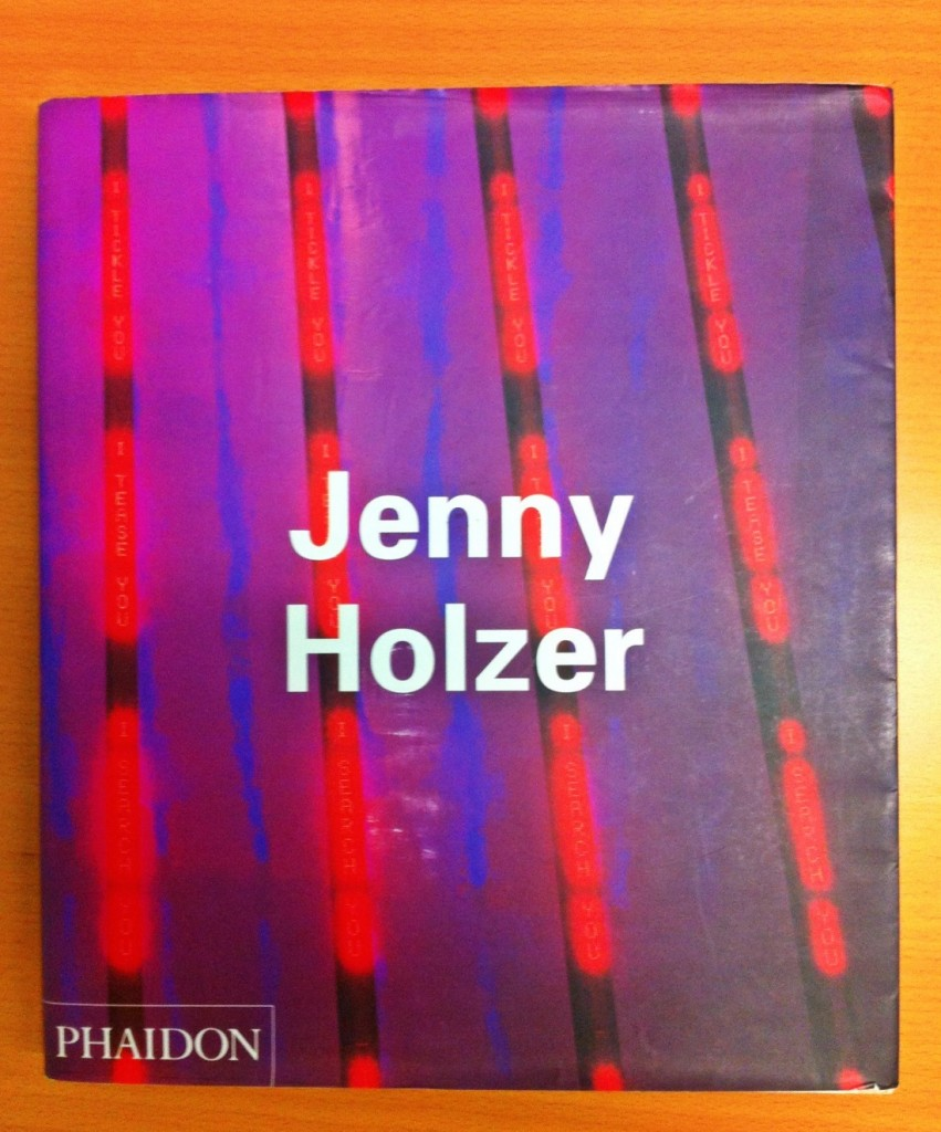 Jenny Holzer's CONTEMPORARY ARTISTS from Phaidon